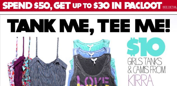 Pacsun's Tank Me Tee Me Email - Thumbnail