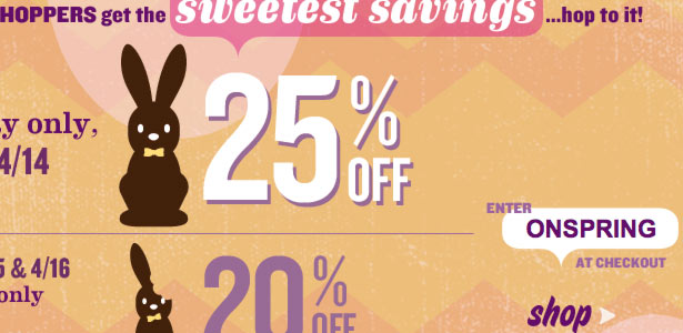 Old Navy Easter Segmented Sale Email Design - Thumbnail
