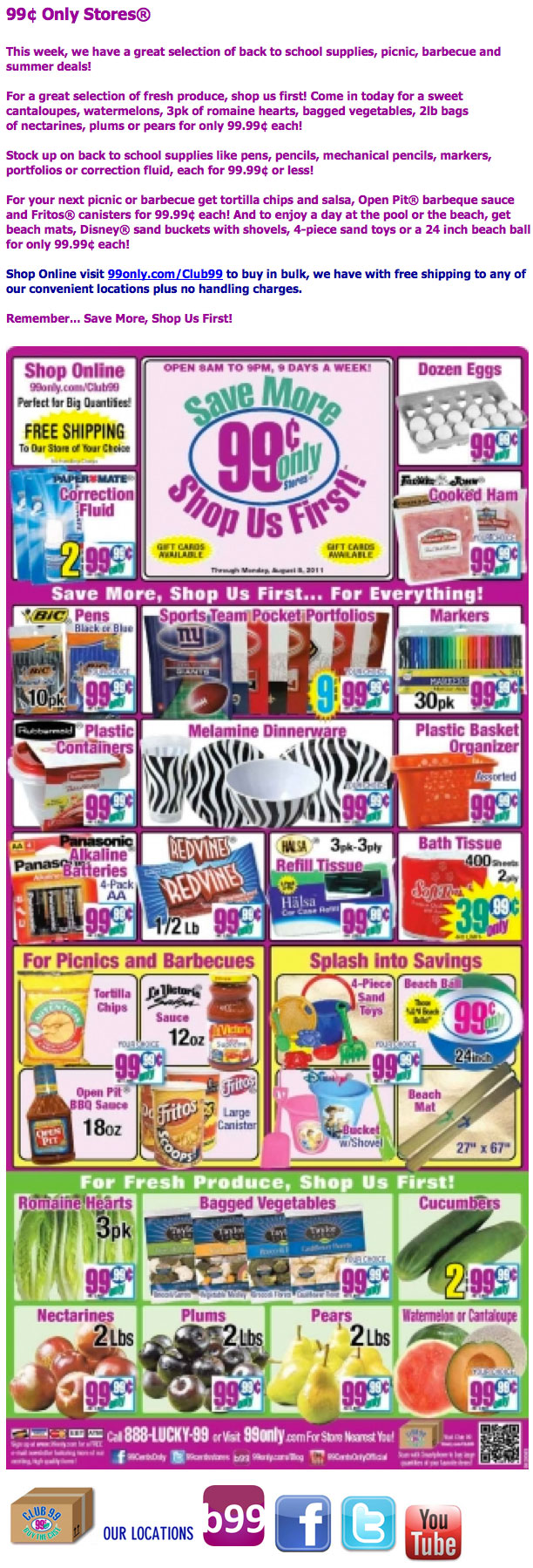 January Unsubscribe List Cartier Ralphs 99 Cent Only Store
