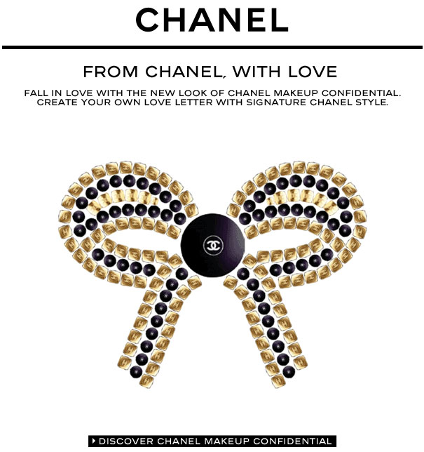Chanel Valentine's Day Email Design