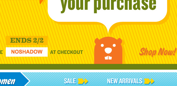 Old Navy's Groundhog Day Email Design Preview