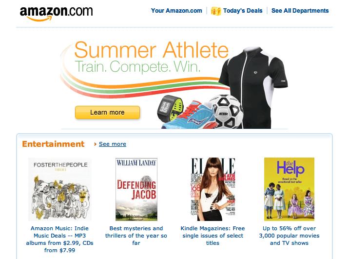 Amazon.com Email Design