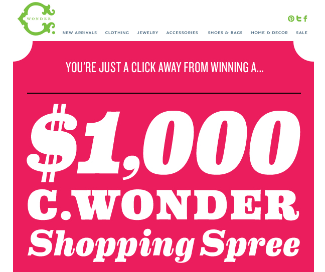 C Wonder Email Marketing Design
