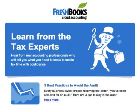 FreshBooks Email Design